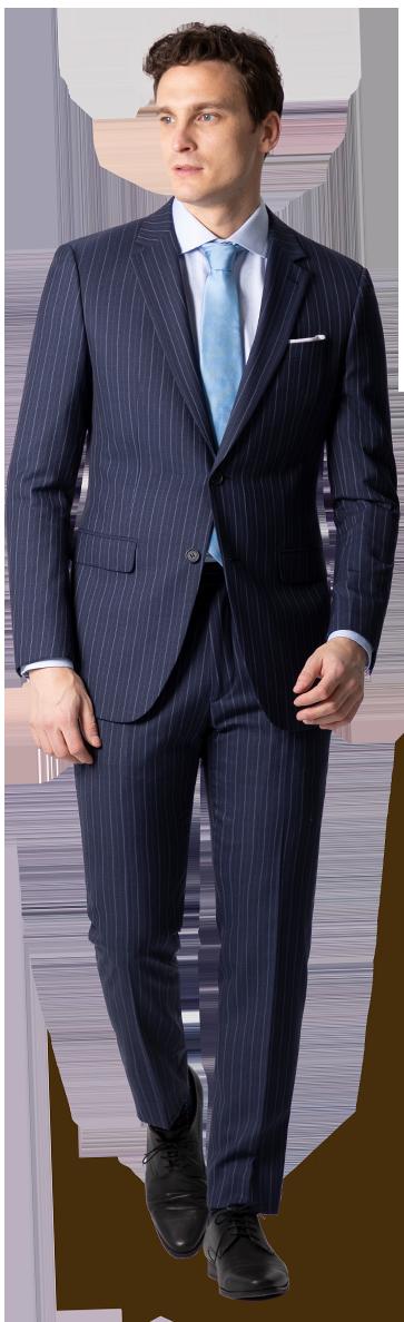 blue pinstripe suit men