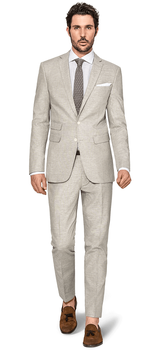 Men's Custom Linen Suit