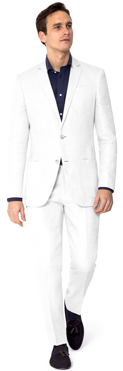 Men White suit