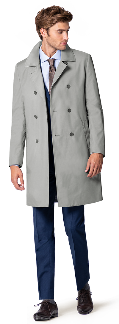Grauer Trench Coat