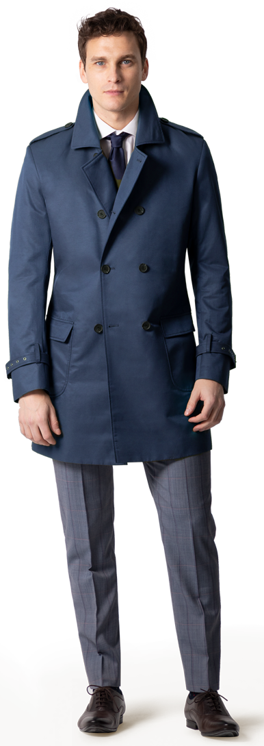 Marinerblauer navy blue Trenchcoat