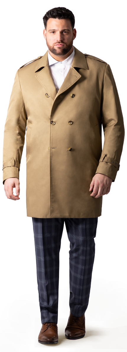 big and tall trench coat