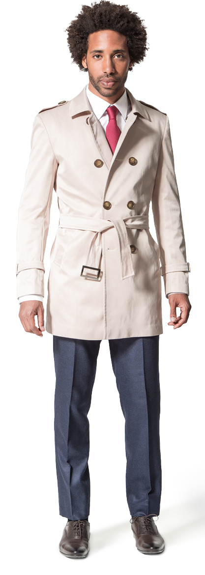 beige trench coat