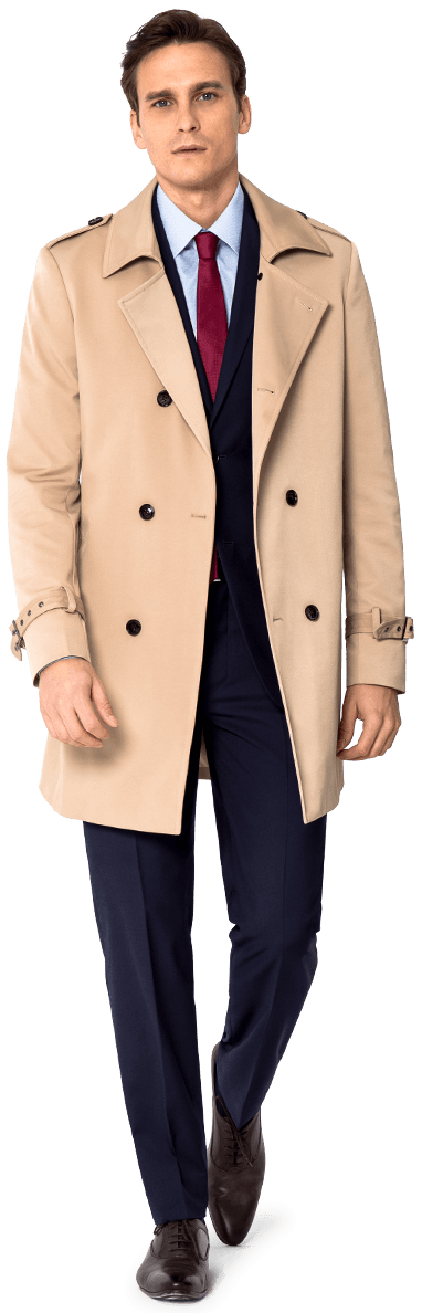 Men's tailored trench coat