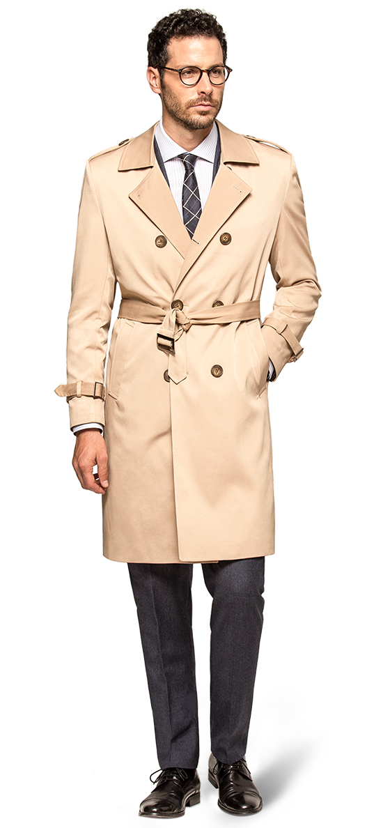 mens long trench coat