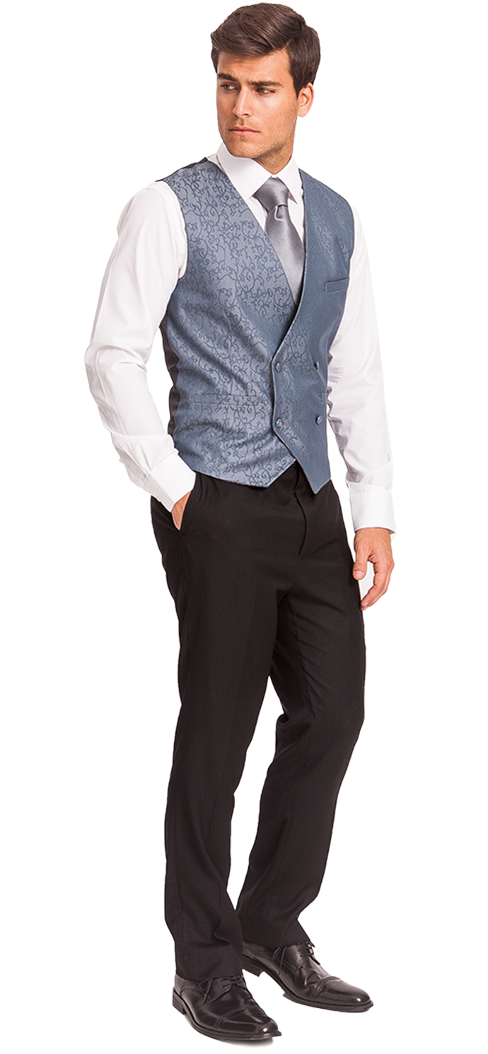 Blue wedding waistcoat for groom and groomsmen