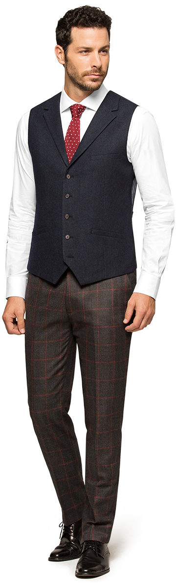 chaleco tweed