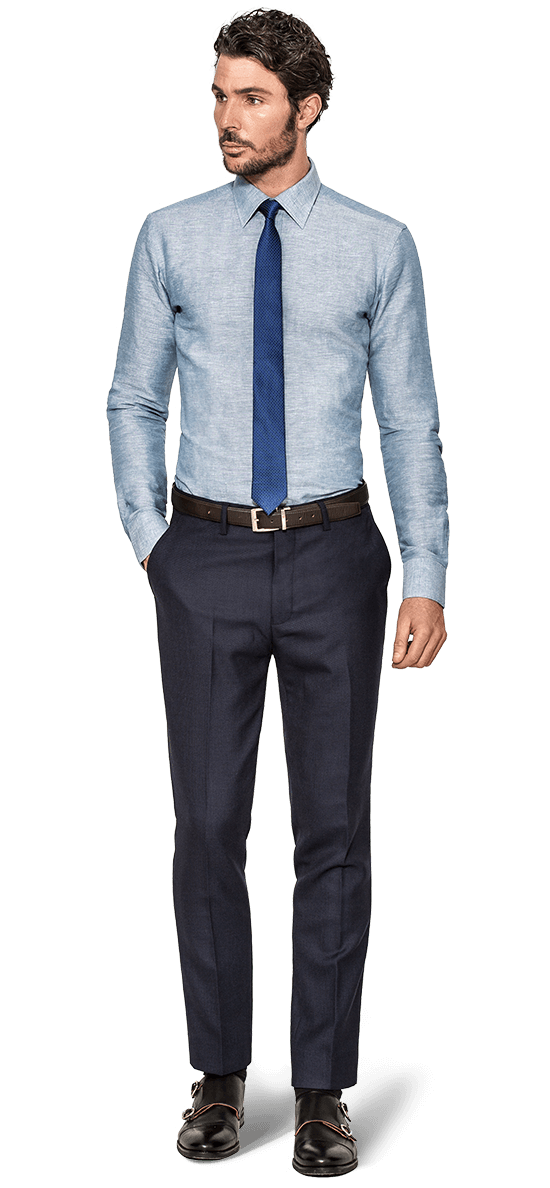 Camisas de lino camisas hombre a medida 42 hockerty for Tailored shirts for men