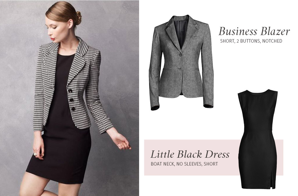 Professional Blazer over Black Dress