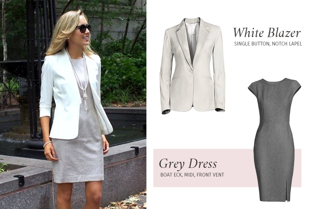 White Blazer with Dress