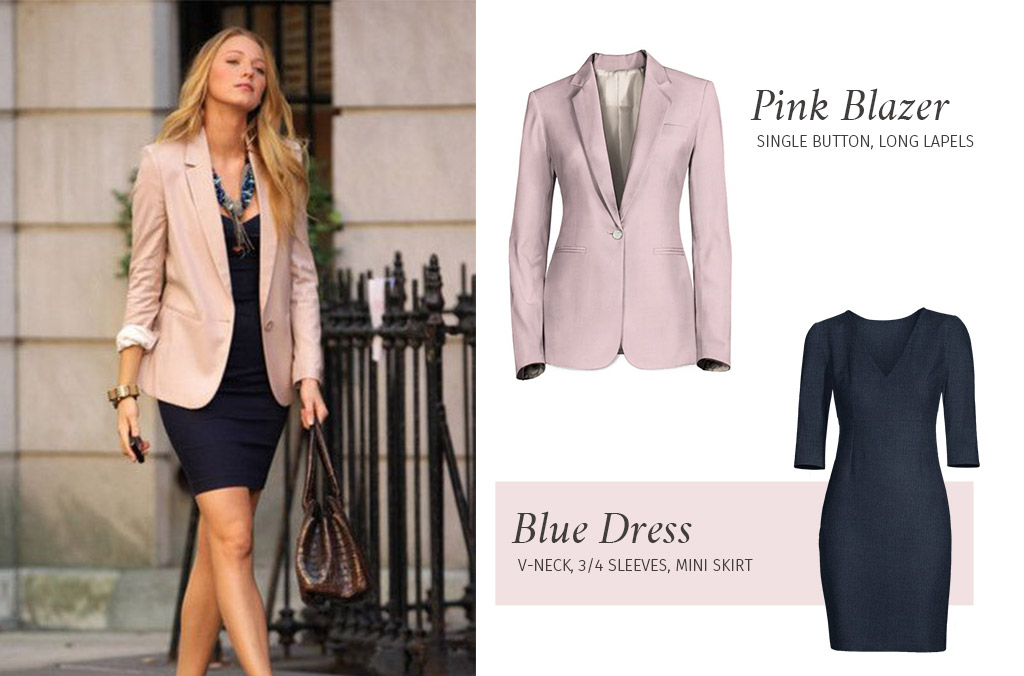 Pink Blazer over black dress