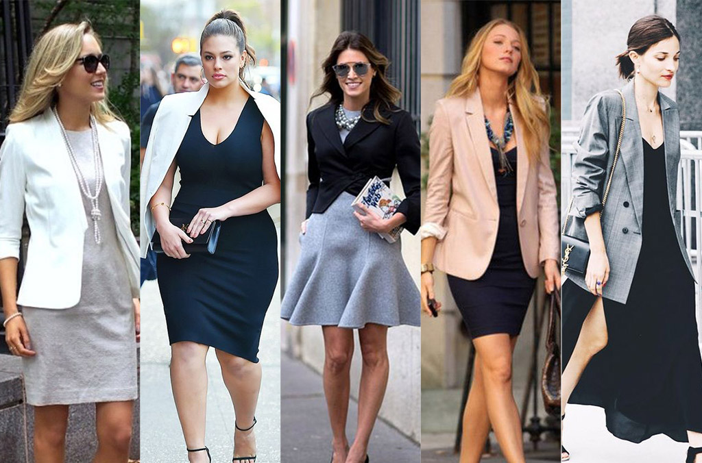 blazer over dress inspiration